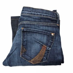 James Cured by Seun Two Toned Stretch Flare Jeans